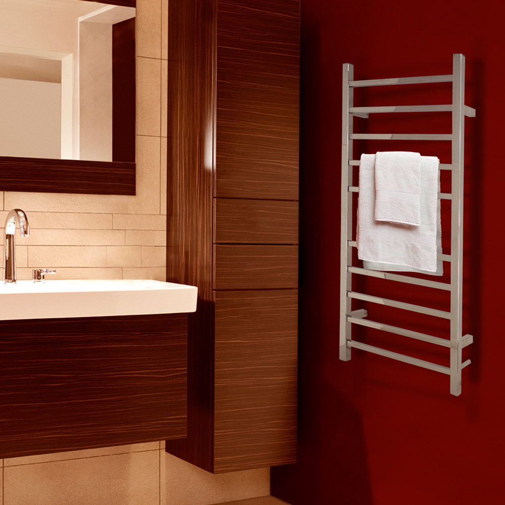 Metropolitan Polished Chrome Bathroom Towel Warmer Zuri