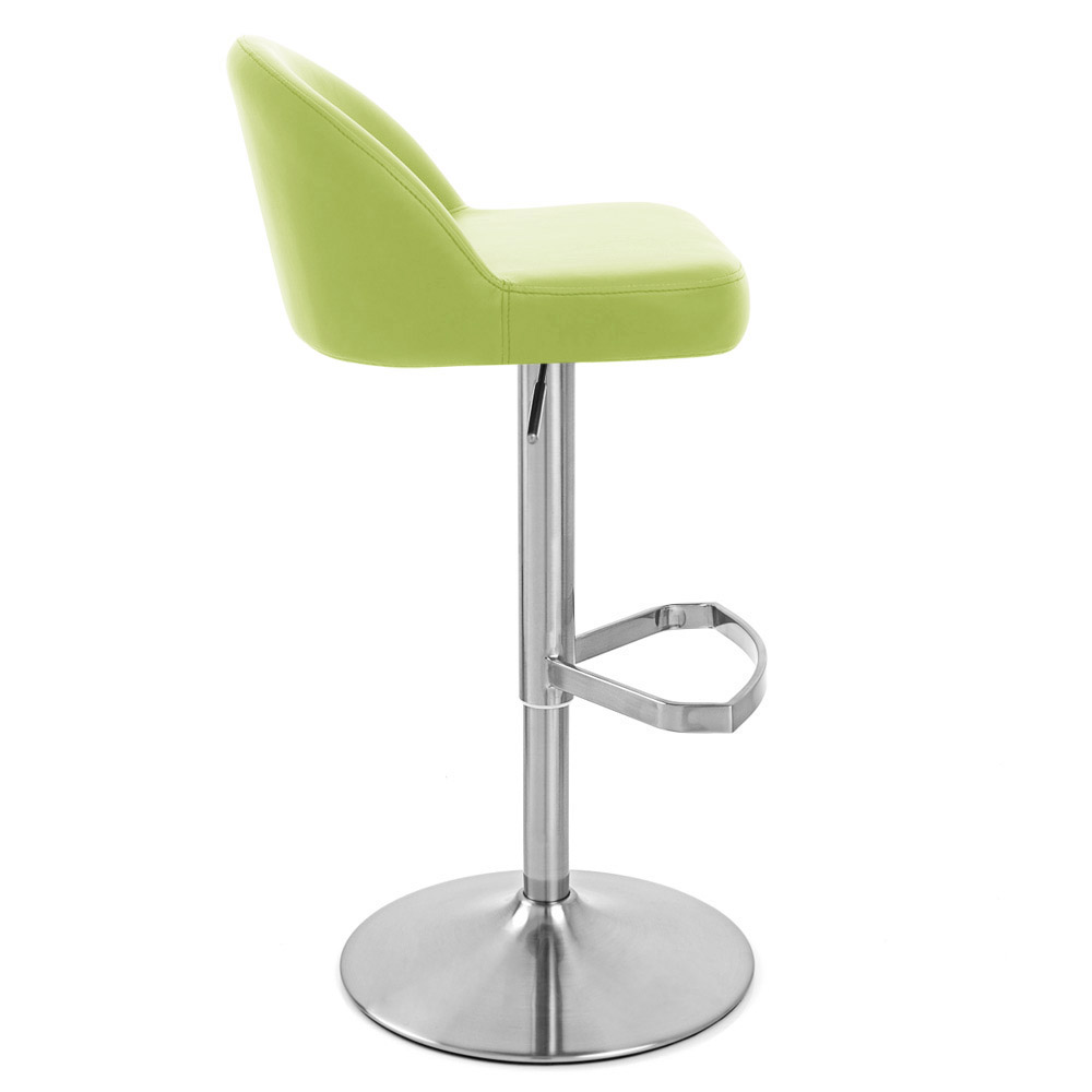 Lime Green Mimi Adjustable Height Swivel Armless Bar Stool | Zuri Furniture