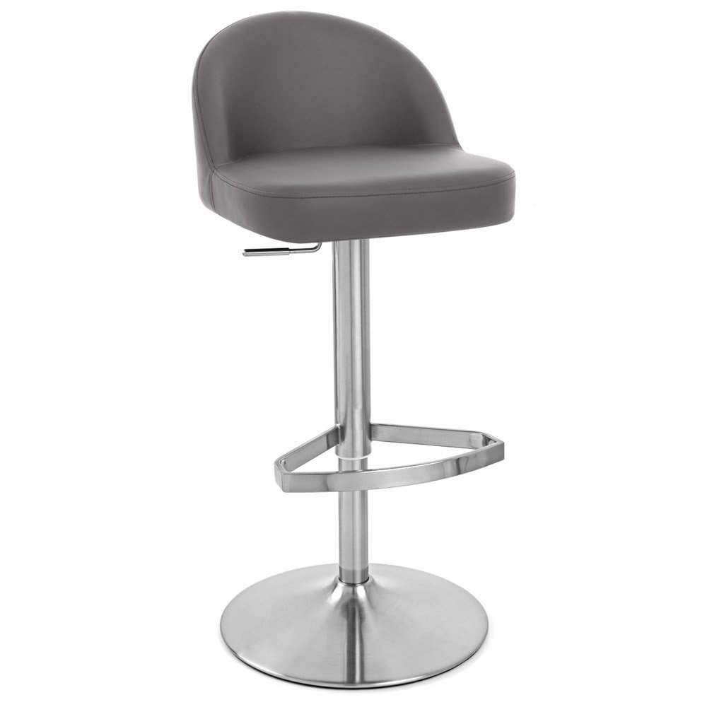 Mimi Adjustable Height Swivel Armless Bar Stool Zuri