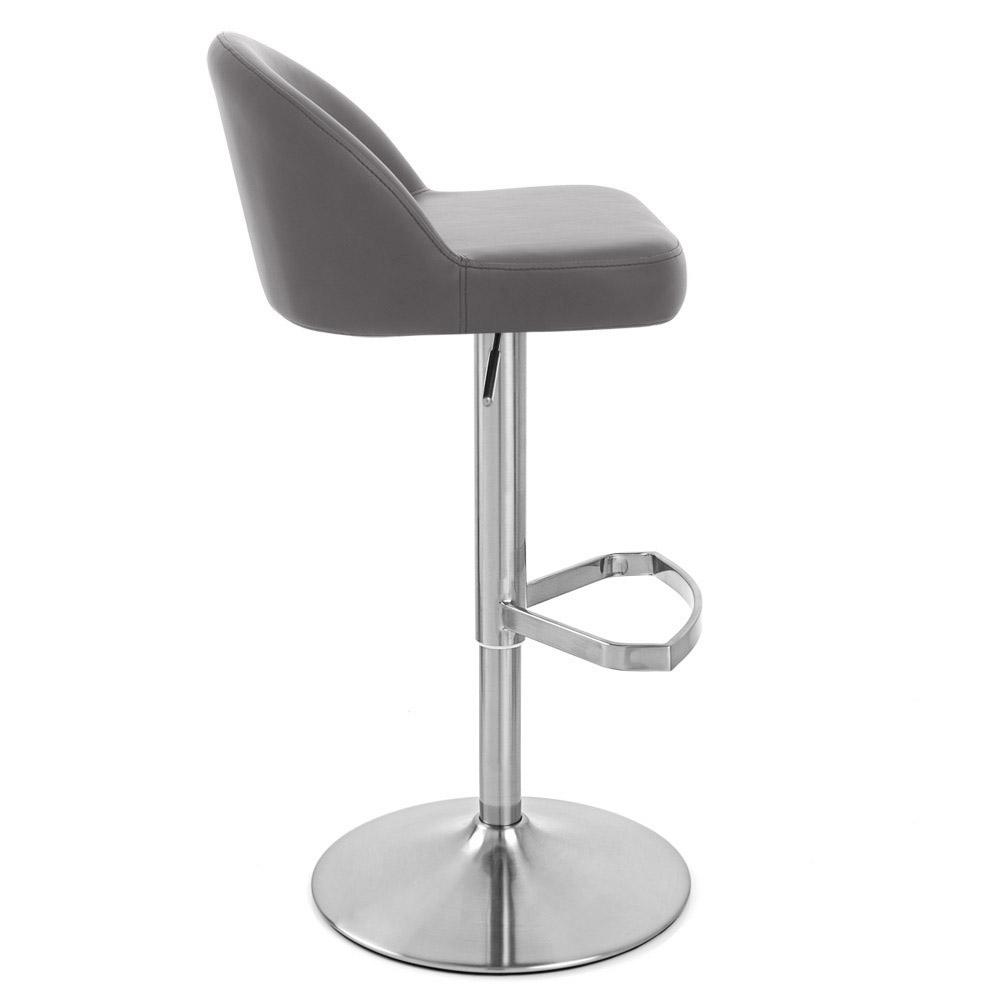 Mimi Adjustable Height Swivel Armless Bar Stool Zuri Furniture