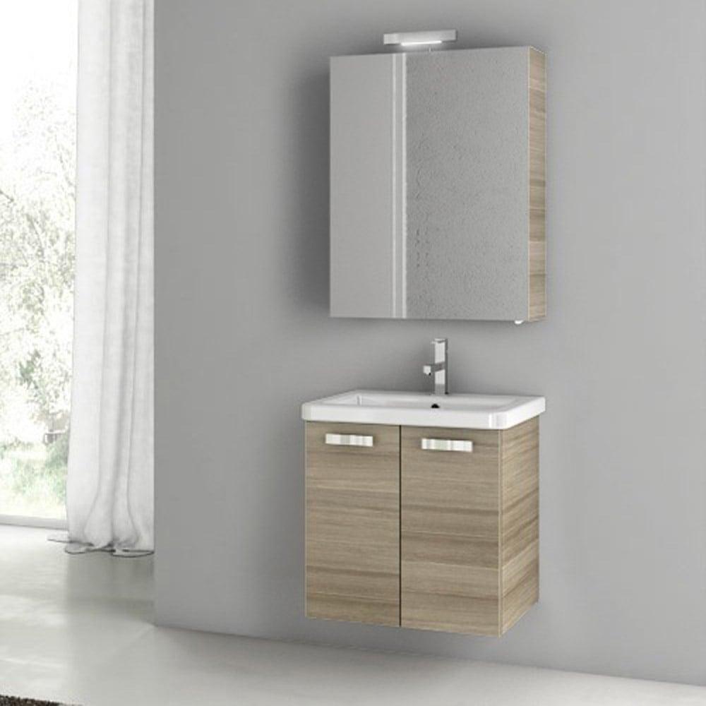 Modern 22 Inch City Play Vanity Set With Ceramic Sink