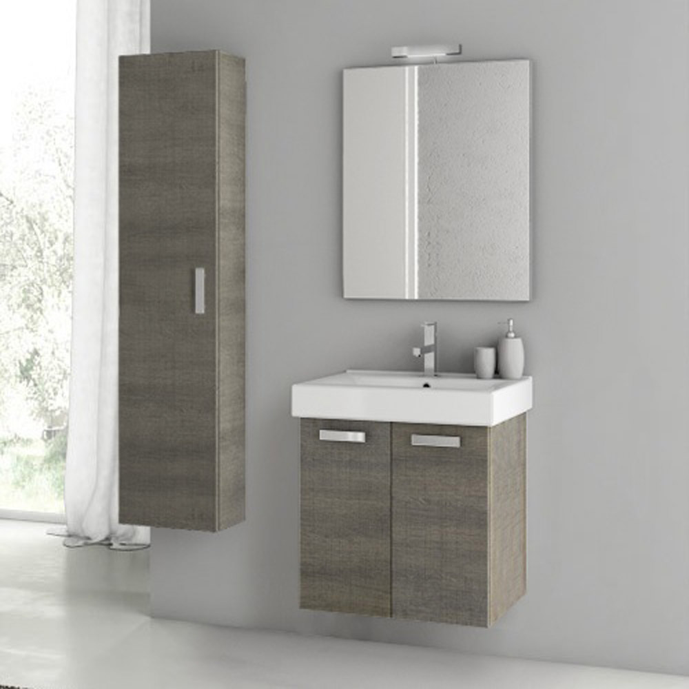 Modern 22 inch cubical vanity set with storage cabinet Bathroom vanity cabinet storage