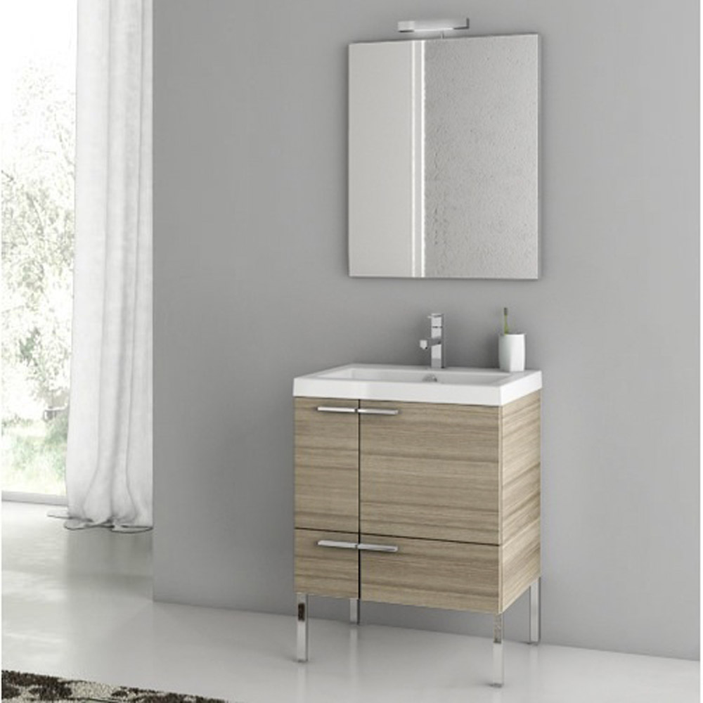 modern 23 inch bathroom vanity set with ceramic sink