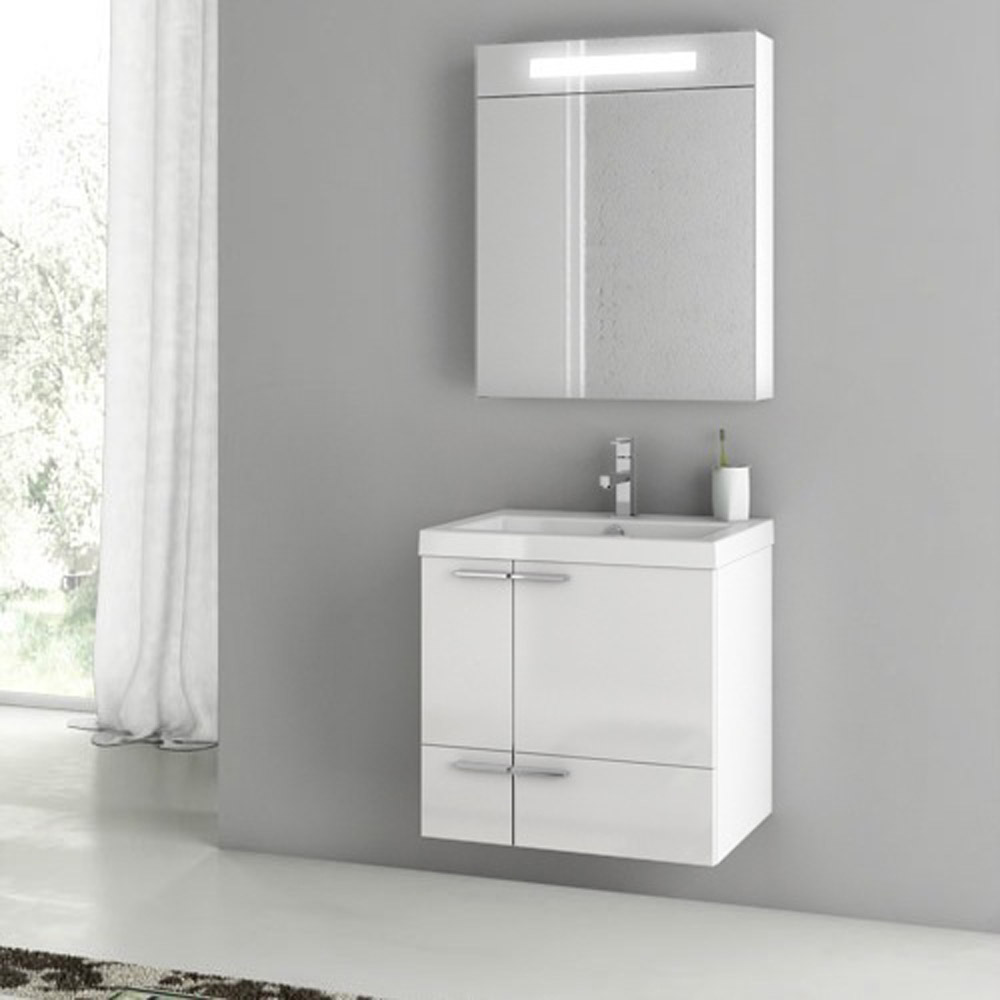 modern 23 inch bathroom vanity set with medicine cabinet