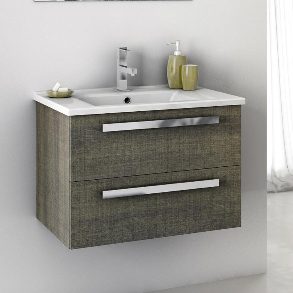 Modern 24 inch Dadila Vanity Set with Ceramic Sink ...