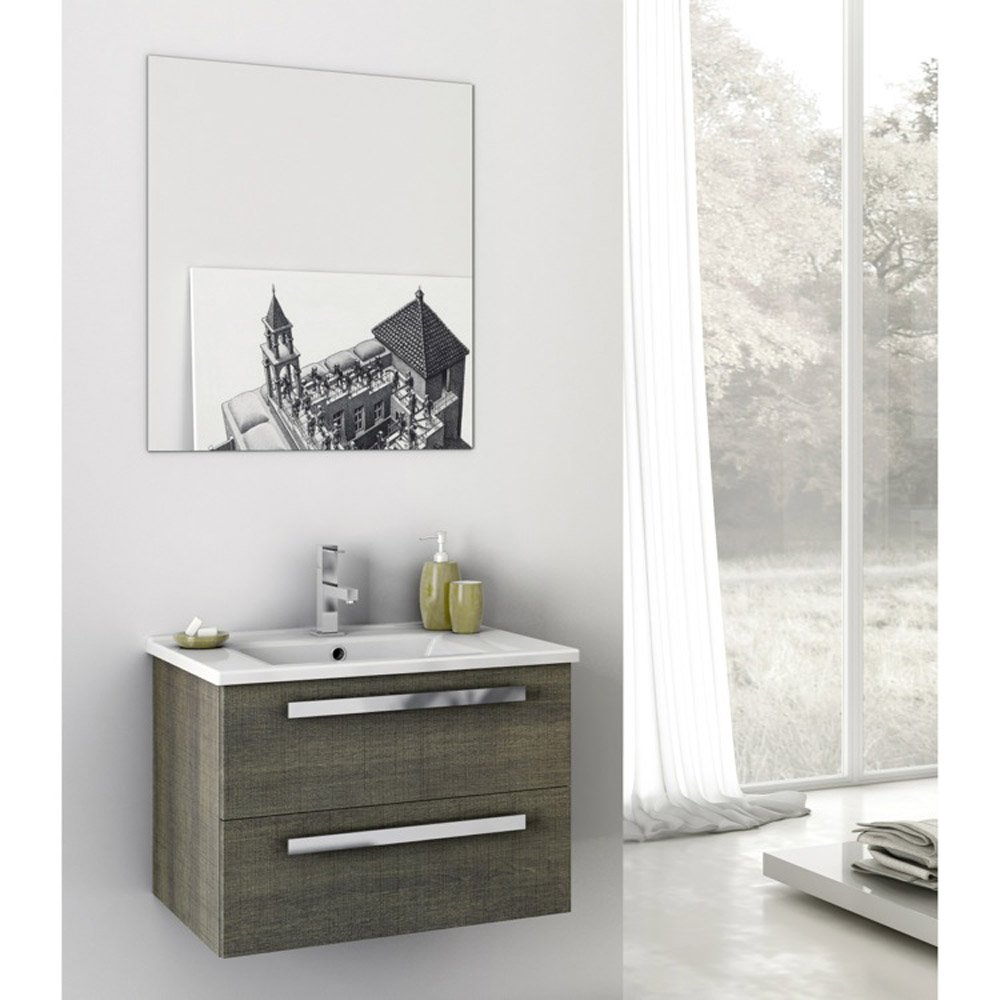 Modern 24 inch Dadila Vanity Set with Ceramic Sink ...