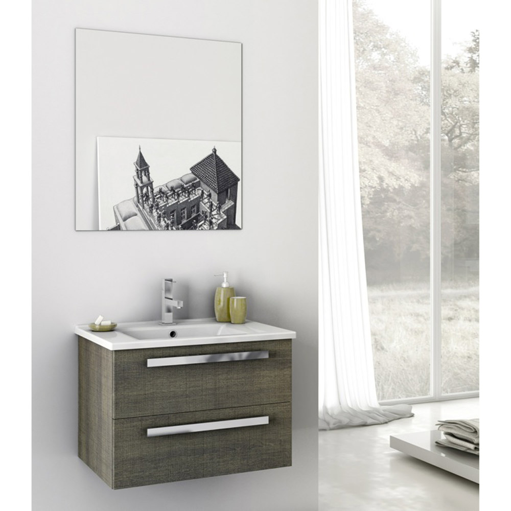 Modern 24 inch dadila vanity set with ceramic sink for Bathroom 24 inch vanity