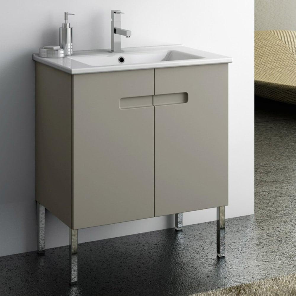Modern 24 Inch New York Vanity Set With Ceramic Sink Matt Canapa Zuri Furniture