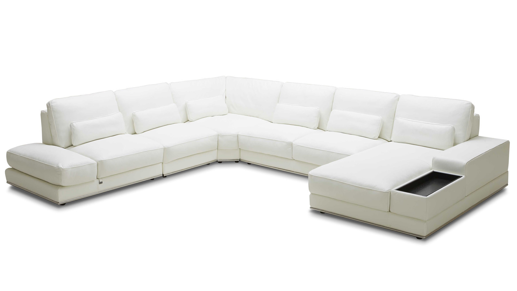 Nolan Sectional  sc 1 st  Zuri Furniture : sectional with 2 chaises - Sectionals, Sofas & Couches