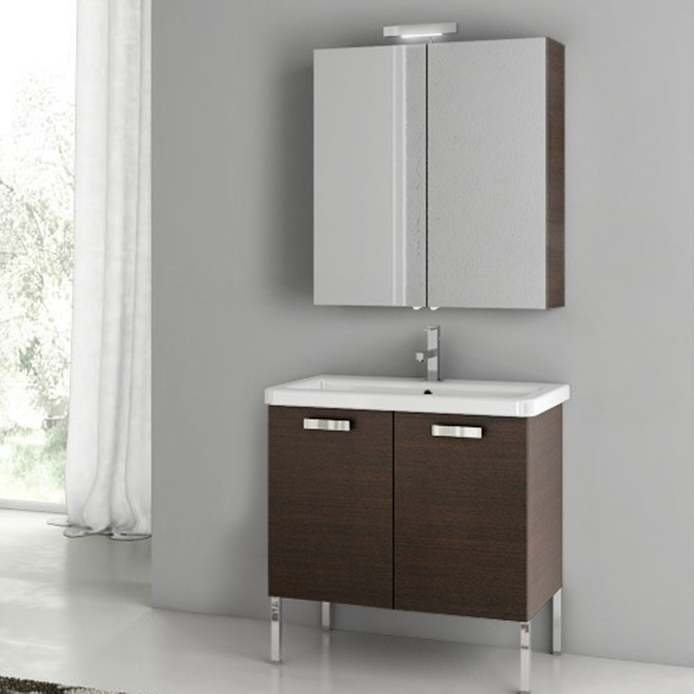 Modern 30 Inch City Play Vanity Set With Ceramic Sink