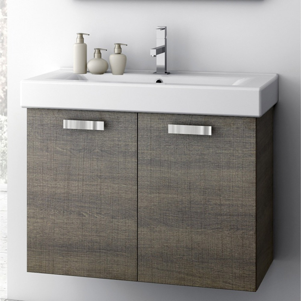 Modern 30 inch cubical vanity set with ceramic sink for Bathroom 30 inch vanity