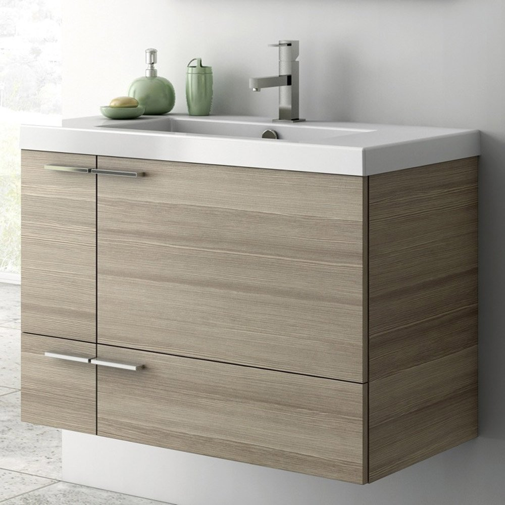 Modern 31 Inch Bathroom Vanity Set With Ceramic Sink