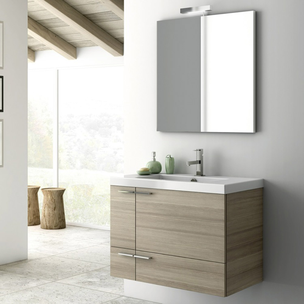 Modern 31 Inch Bathroom Vanity Set With Ceramic Sink Larch Canapa Zuri Furniture