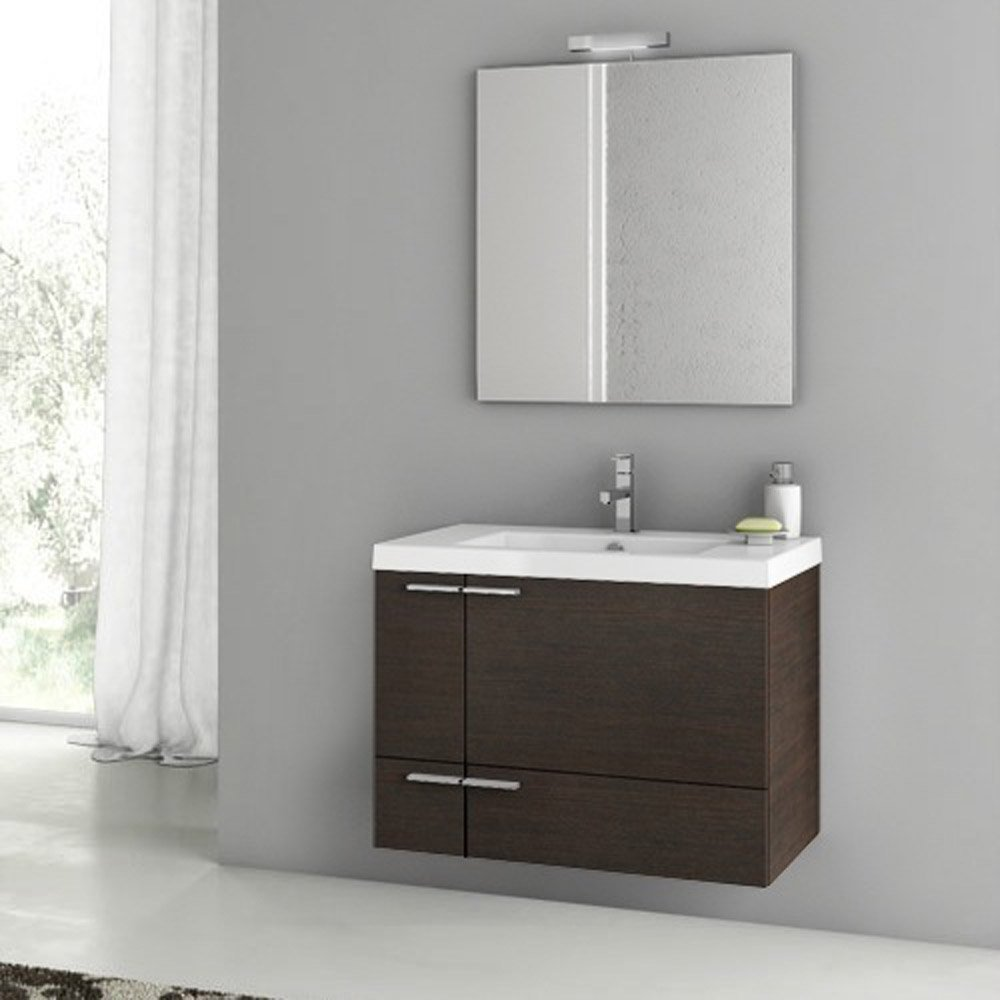 Modern 31 inch bathroom vanity set with ceramic sink for Bath and vanity set