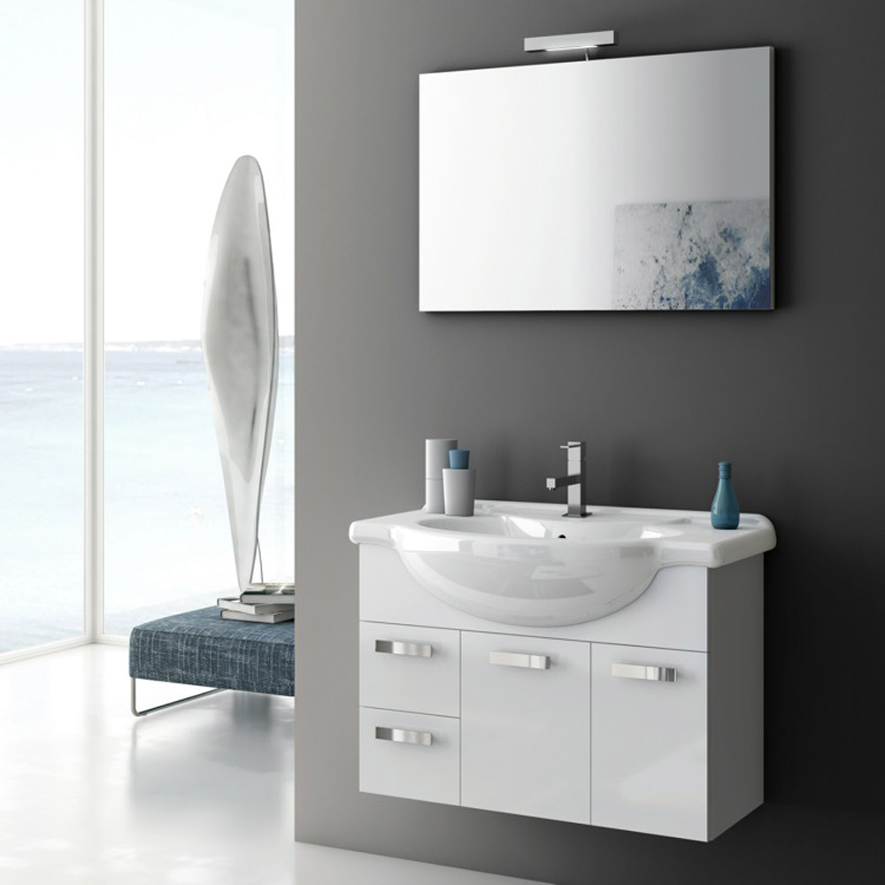 Modern 32 Inch Phinex Vanity Set With Ceramic Sink