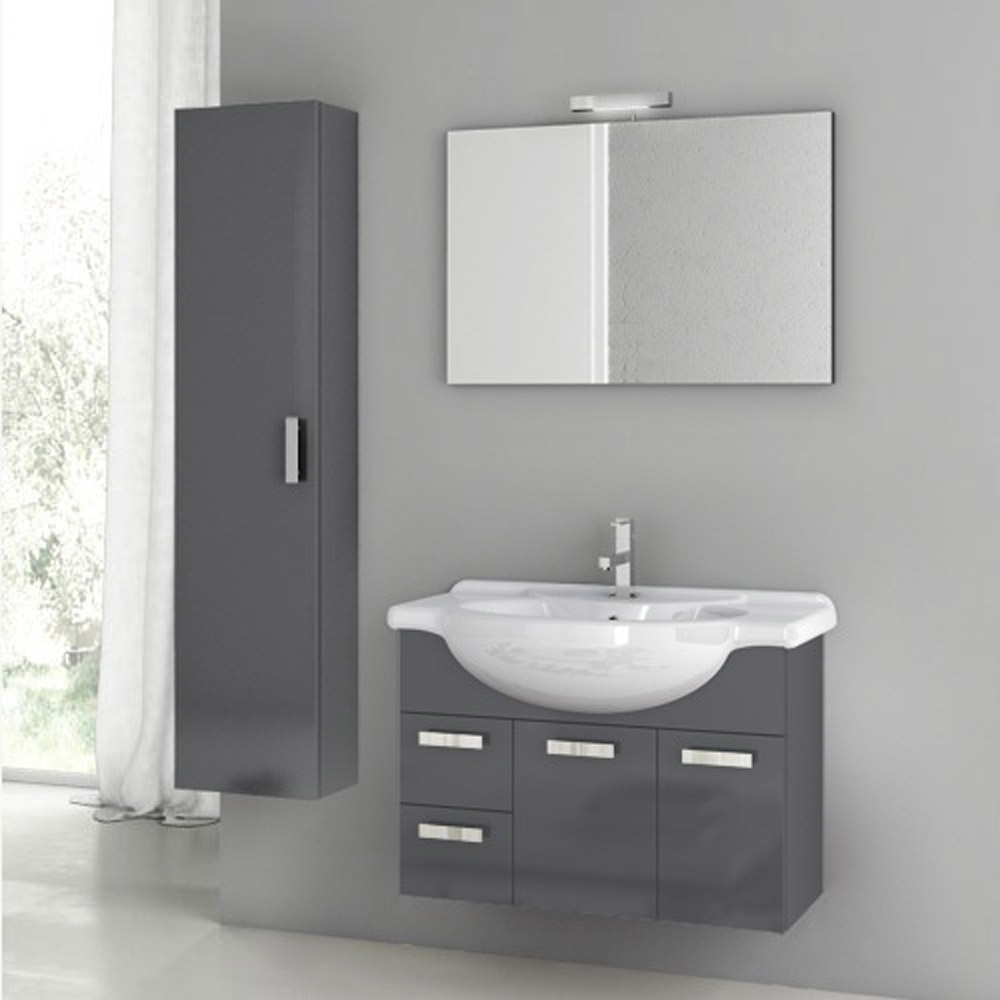 Modern 32 Inch Phinex Vanity Set With Storage Cabinet