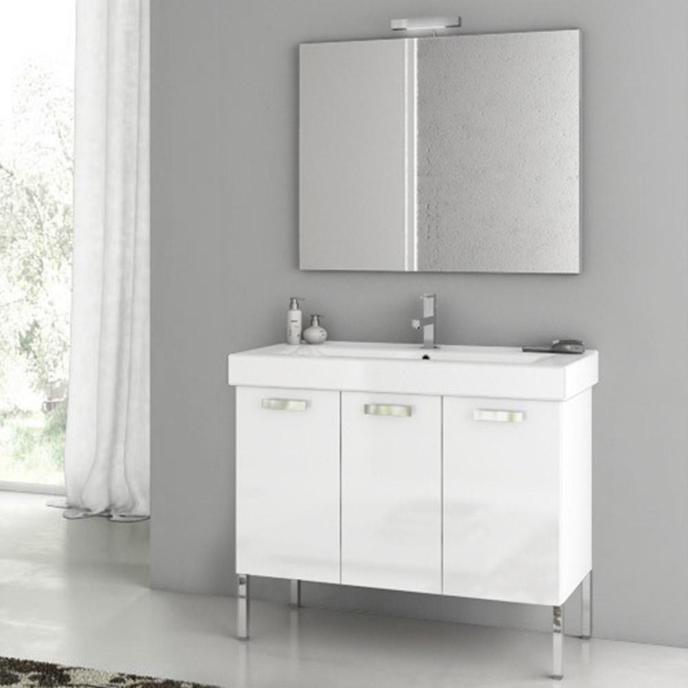 37 inch bathroom vanity. Cubical 37 Inch Vanity Set Modern inch with Ceramic Sink  Glossy White