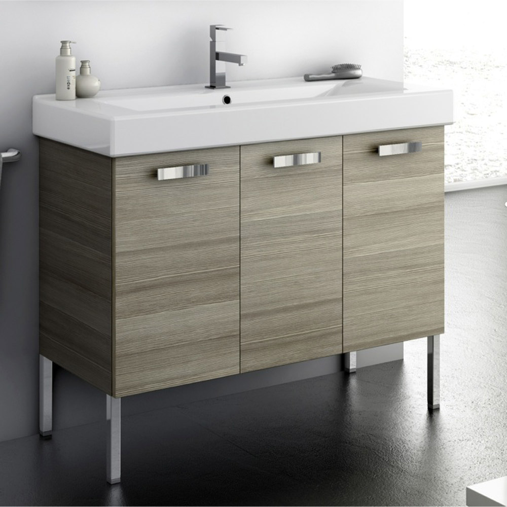 bathroom vanity cabinet sets modern 37 inch cubical vanity set with ceramic sink 11786