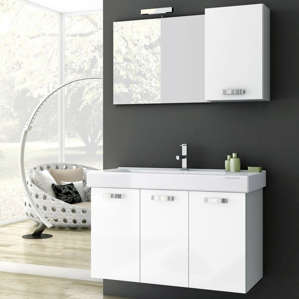 Modern 37 inch Cubical Vanity Set with Storage Unit - Wenge | Zuri ...