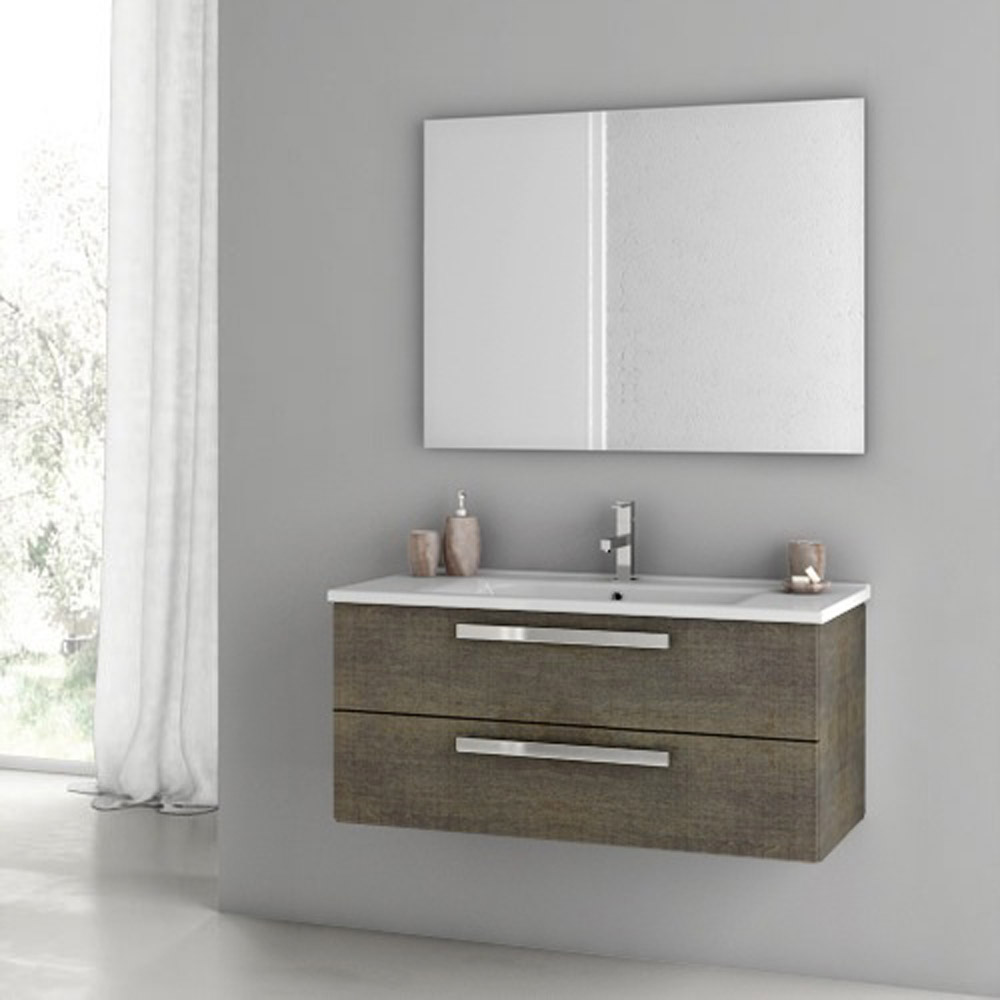 Modern 38 Inch Dadila Vanity Set With Ceramic Sink