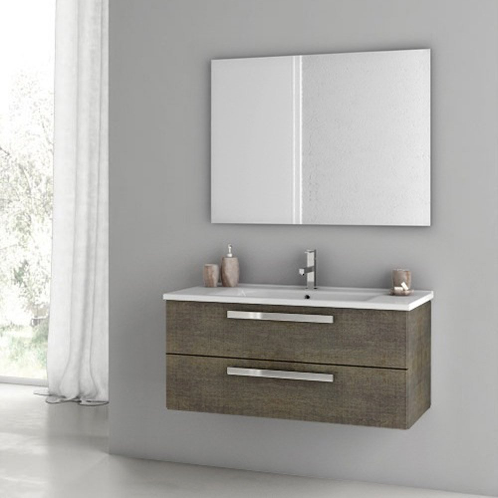 Modern 38 Inch Dadila Vanity Set With Ceramic Sink