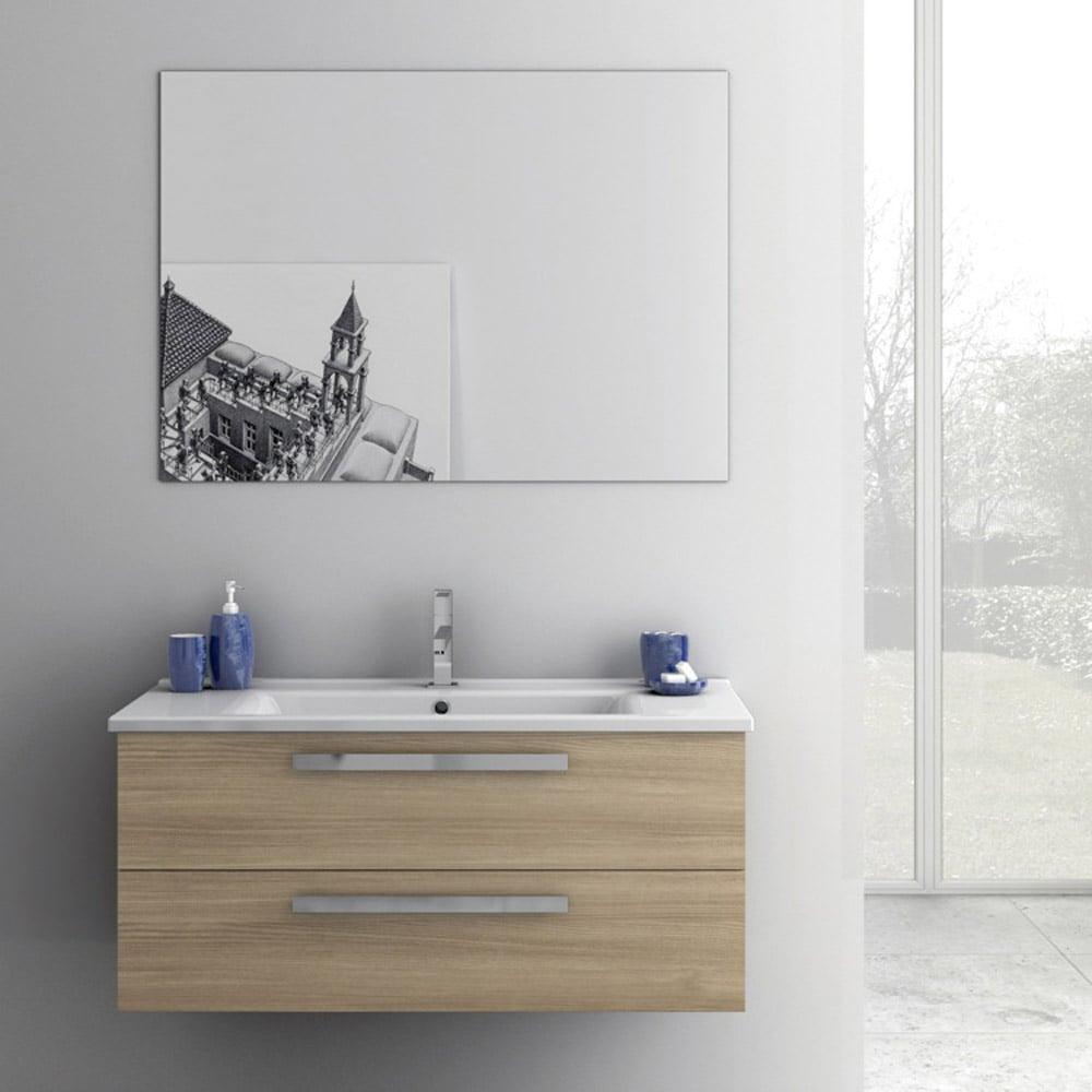 Modern 38 inch Dadila Vanity Set with Ceramic Sink ...