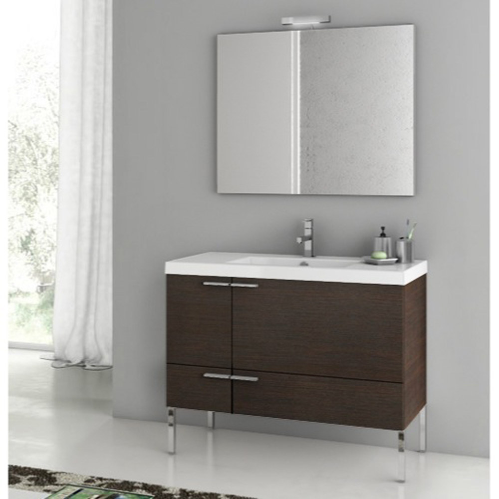 Bathroom Vanity Accessory Sets Modern 39 Inch Bathroom Vanity Set With Ceramic Sink Glossy
