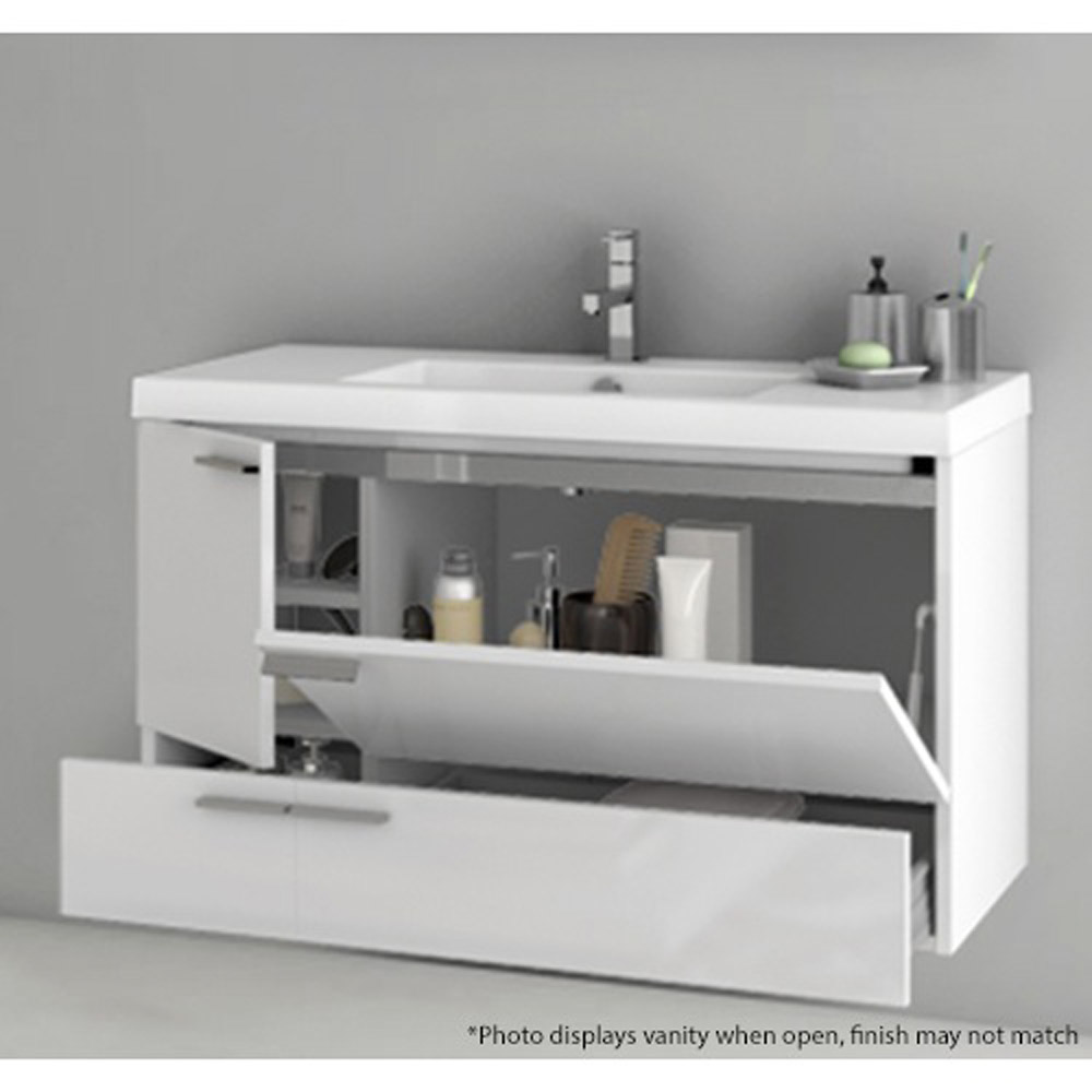 Modern Inch Bathroom Vanity Set With Medicine Cabinet Grey - Single bathroom vanity cabinets