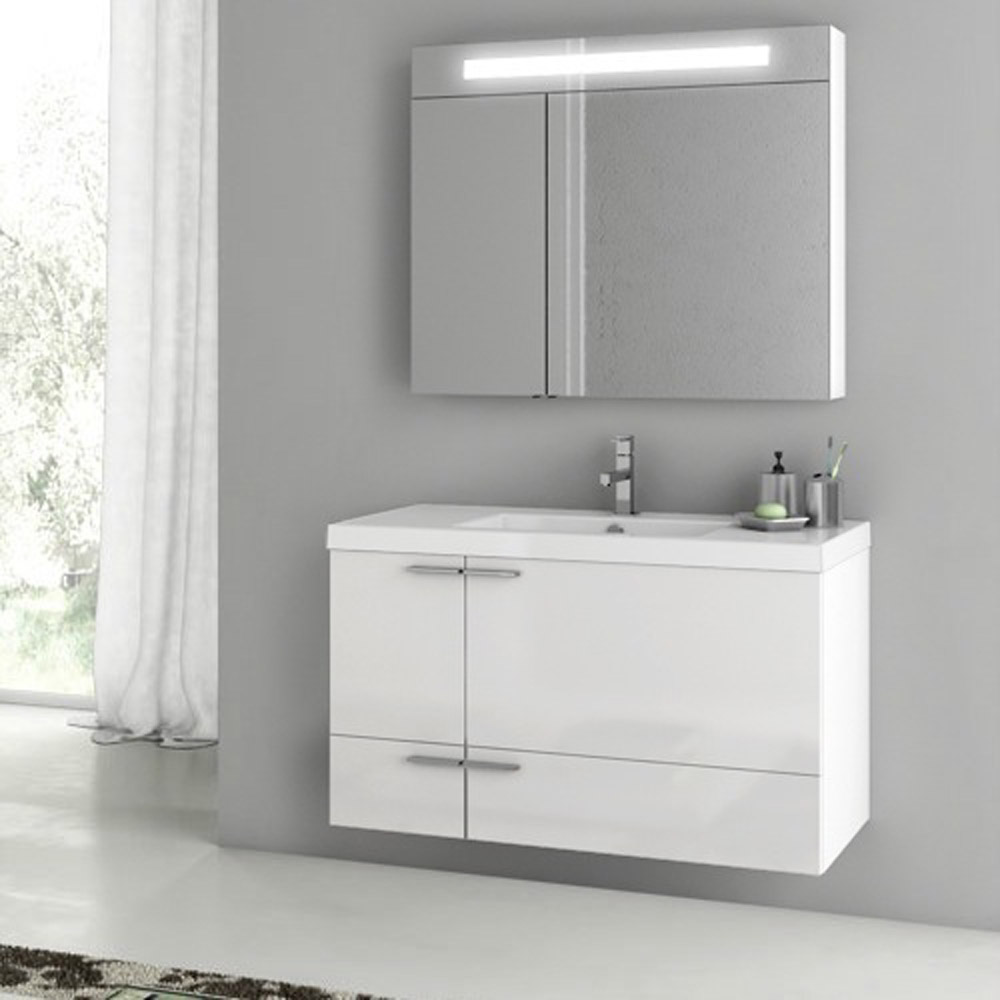 New Space 39 Inch Vanity Set With Medicine Cabinet