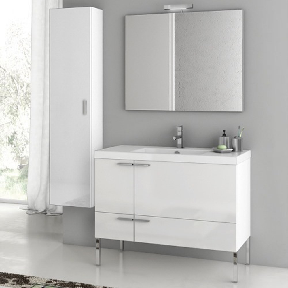 Original BATH  Bathroom Vanities  New Space 39 Inch Vanity Set With Storage
