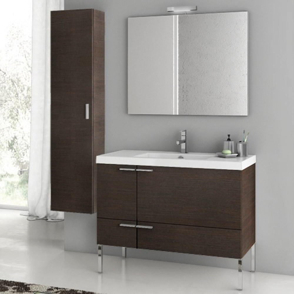 Modern 39 inch bathroom vanity set with storage cabinet Bathroom vanity cabinet storage