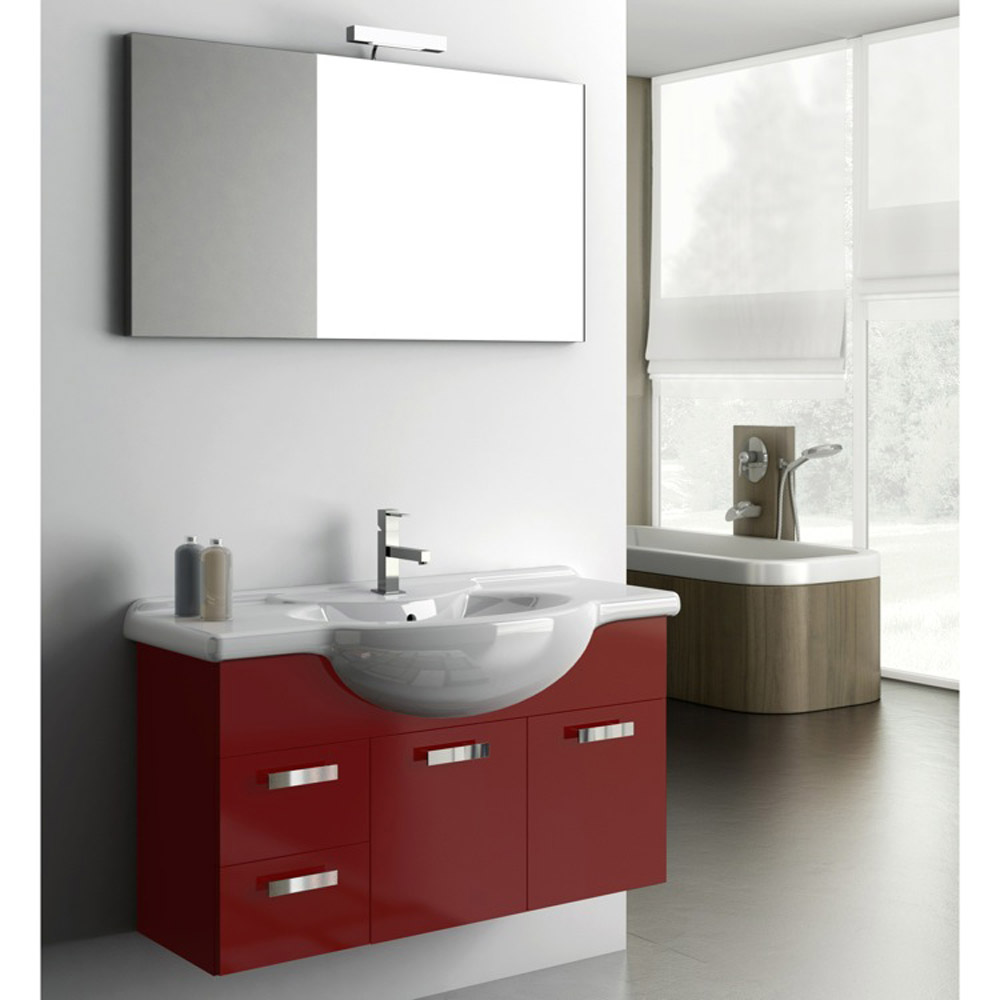 Modern 39 Inch Phinex Vanity Set With Ceramic Sink
