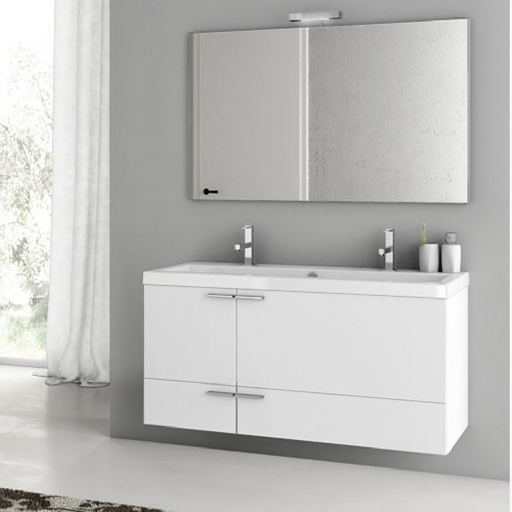 Modern 47 inch Bathroom Vanity Set with Ceramic Sink ...
