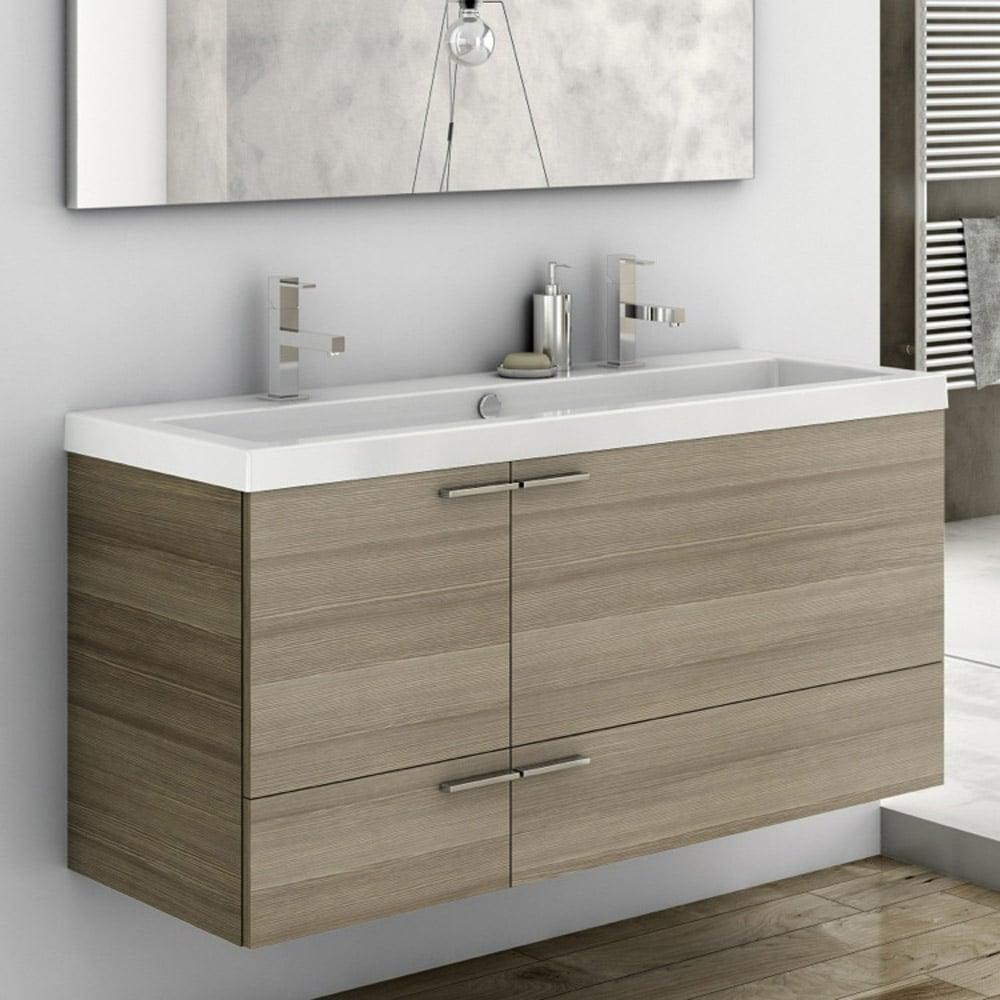 Modern Inch Bathroom Vanity Set With Ceramic Sink Larch Canapa - 47 bathroom vanity sink cabinet