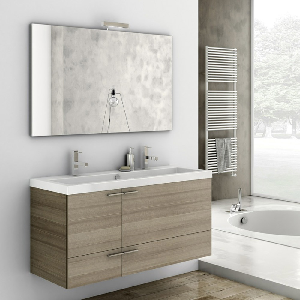 Modern 47 Inch Bathroom Vanity Set With Ceramic Sink