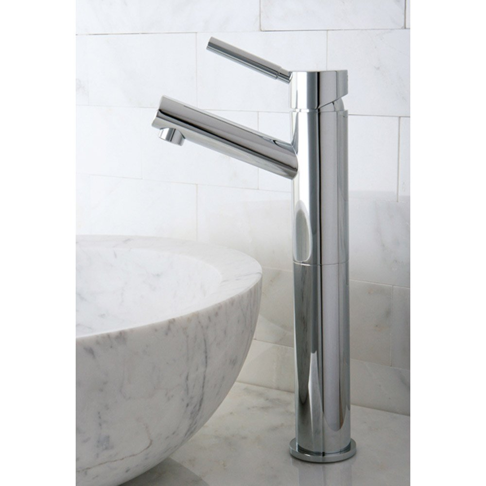 Modern cavell double handle polished chrome bathroom sink faucet zuri furniture for Double bathroom sink plumbing