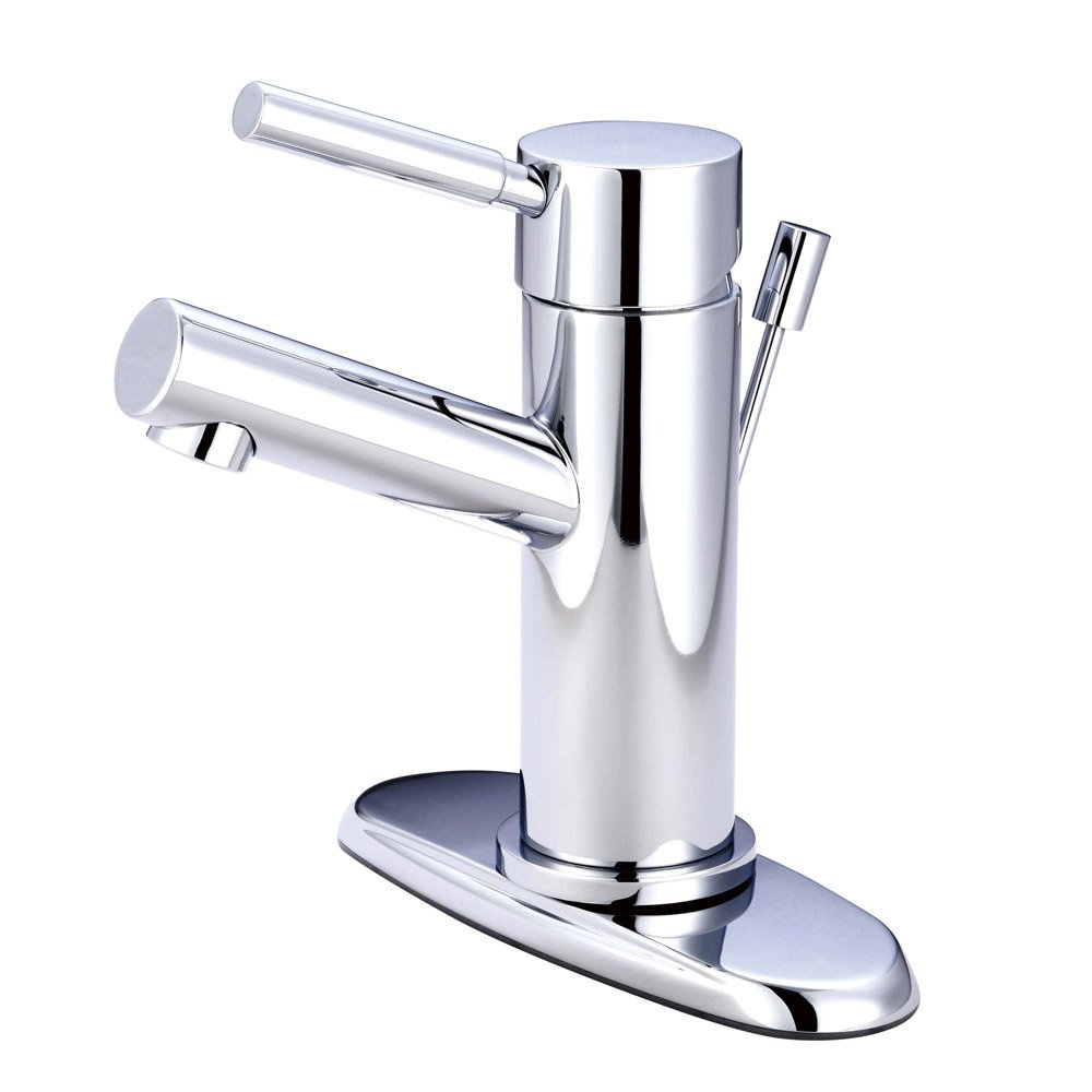 modern cavell single handle polished chrome bathroom sink