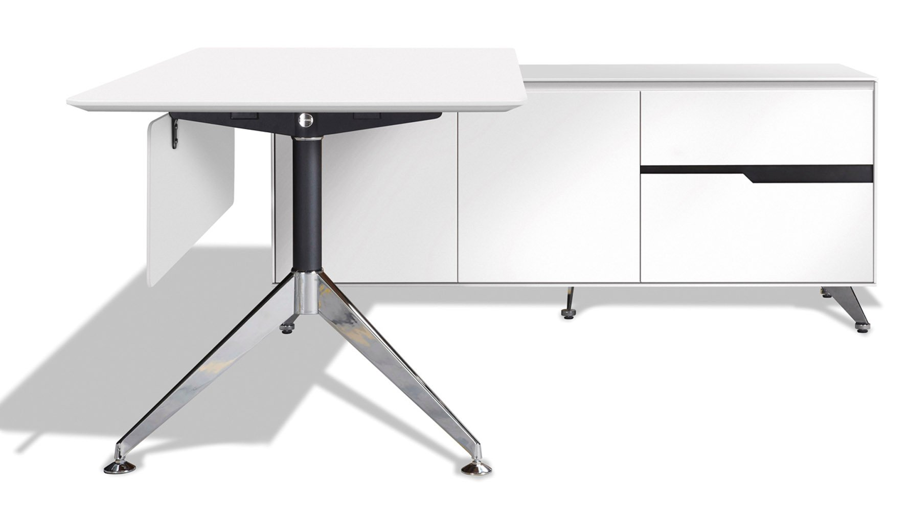 Darin Executive Desk with Right Return Cabinet