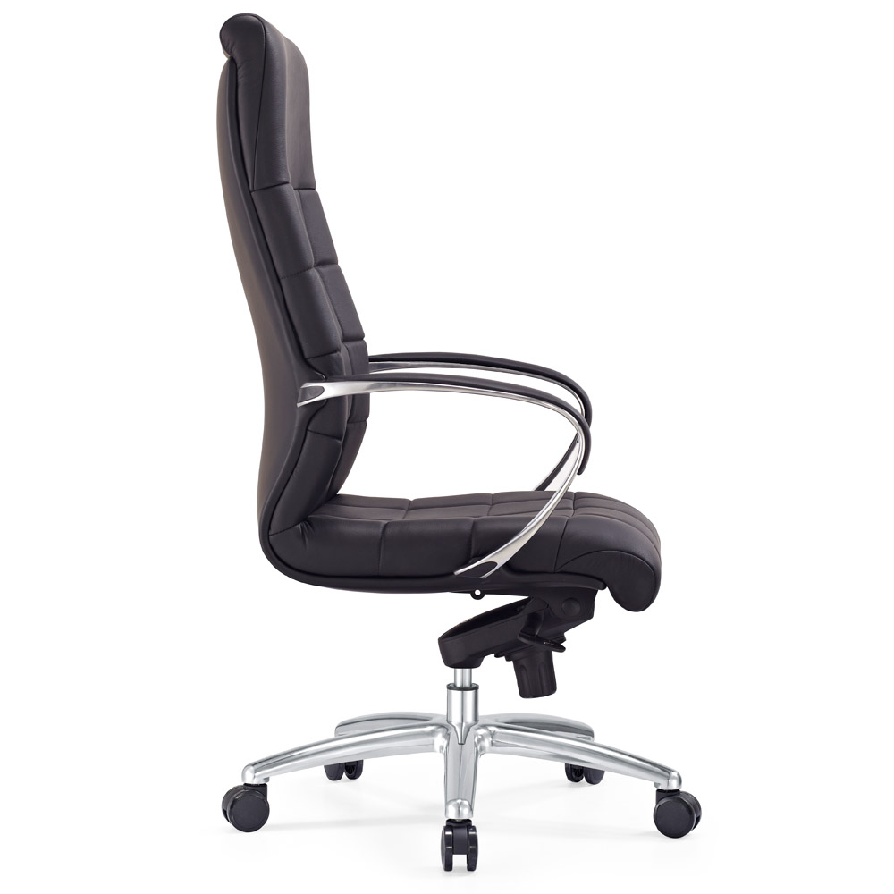 modern ergonomic grant leather executive chair with aluminum base