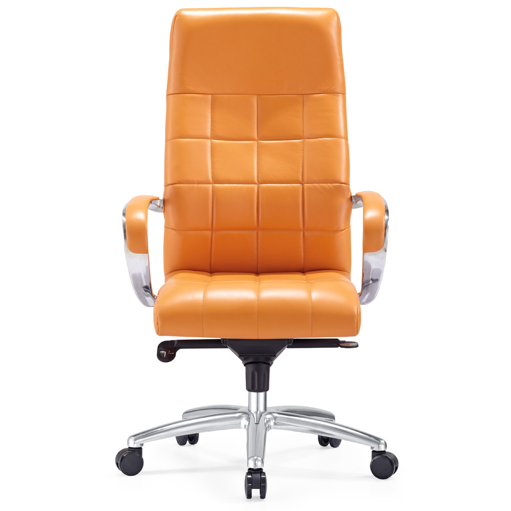 Modern Ergonomic Grant Leather Executive Chair With Aluminum Base | Zuri  Furniture