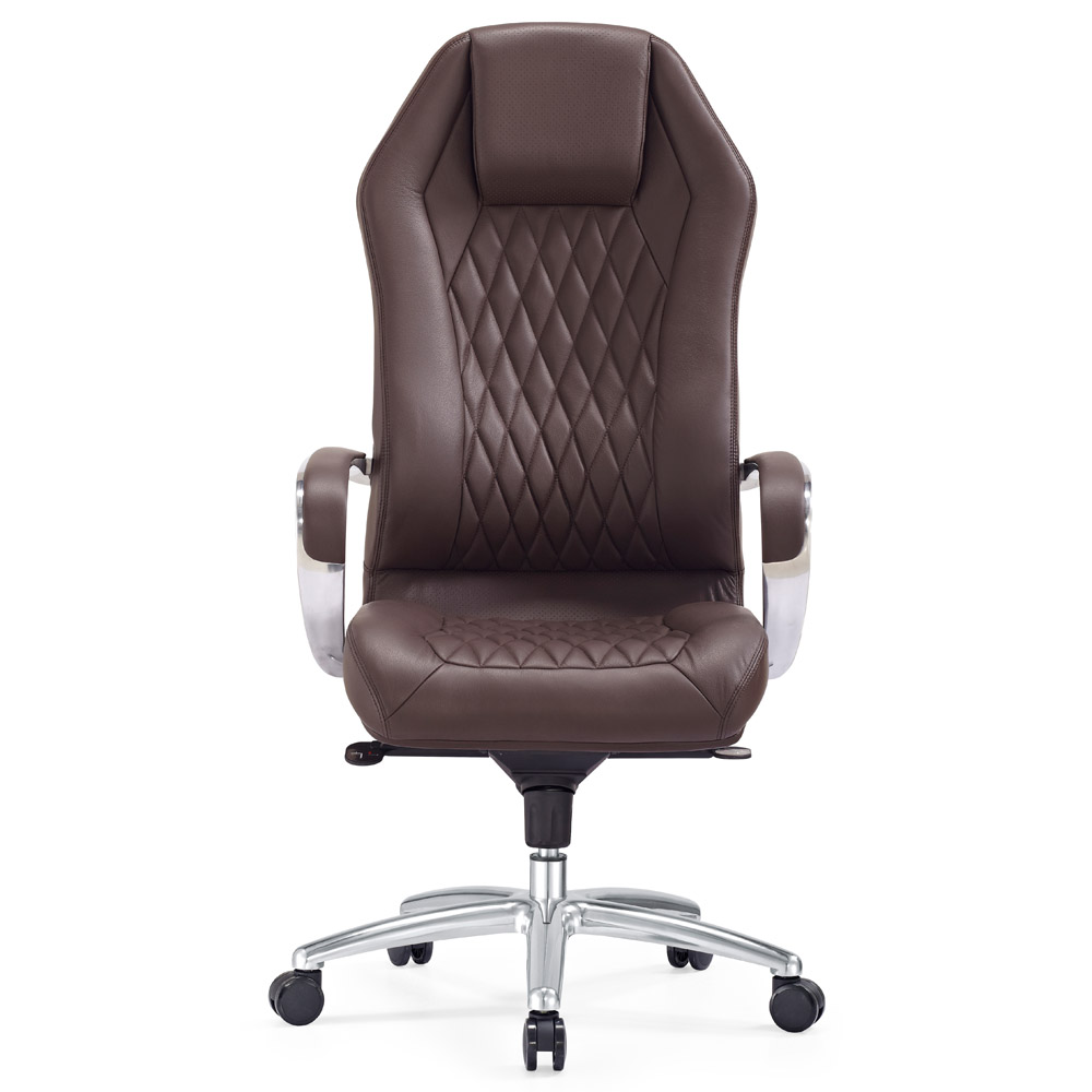 see all zuri office sterling leather executive chair dark brown