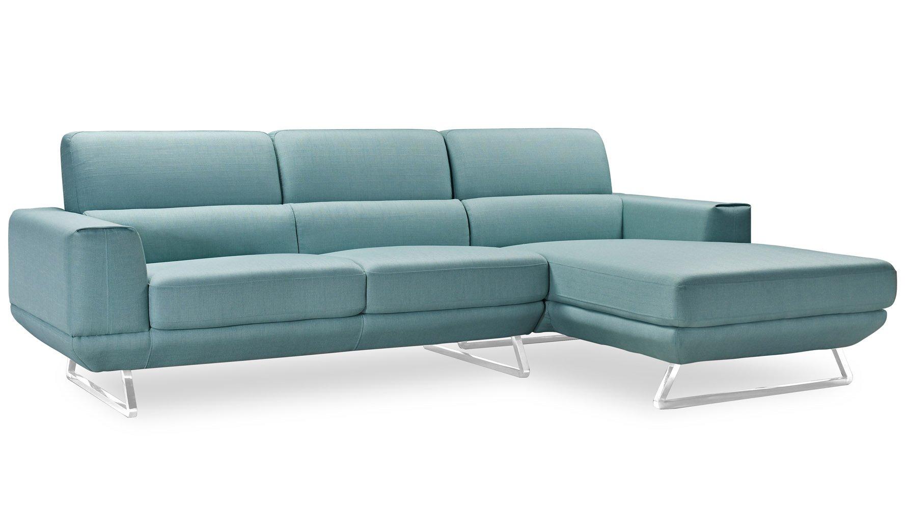 Modern Fabric Upholstered 3 Seater Kensington Sectional Sofa  ~ Kensington Upholstered Sofa