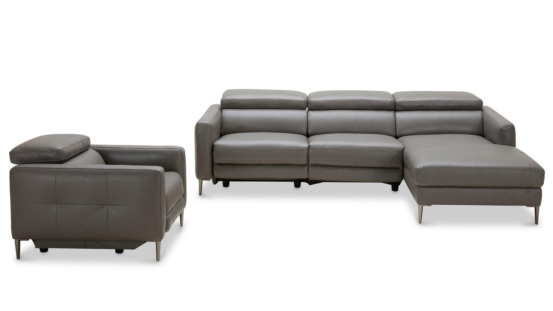 Reno Reclining Sectional with Arm Chair  sc 1 st  Zuri Furniture : black reclining sectional - islam-shia.org