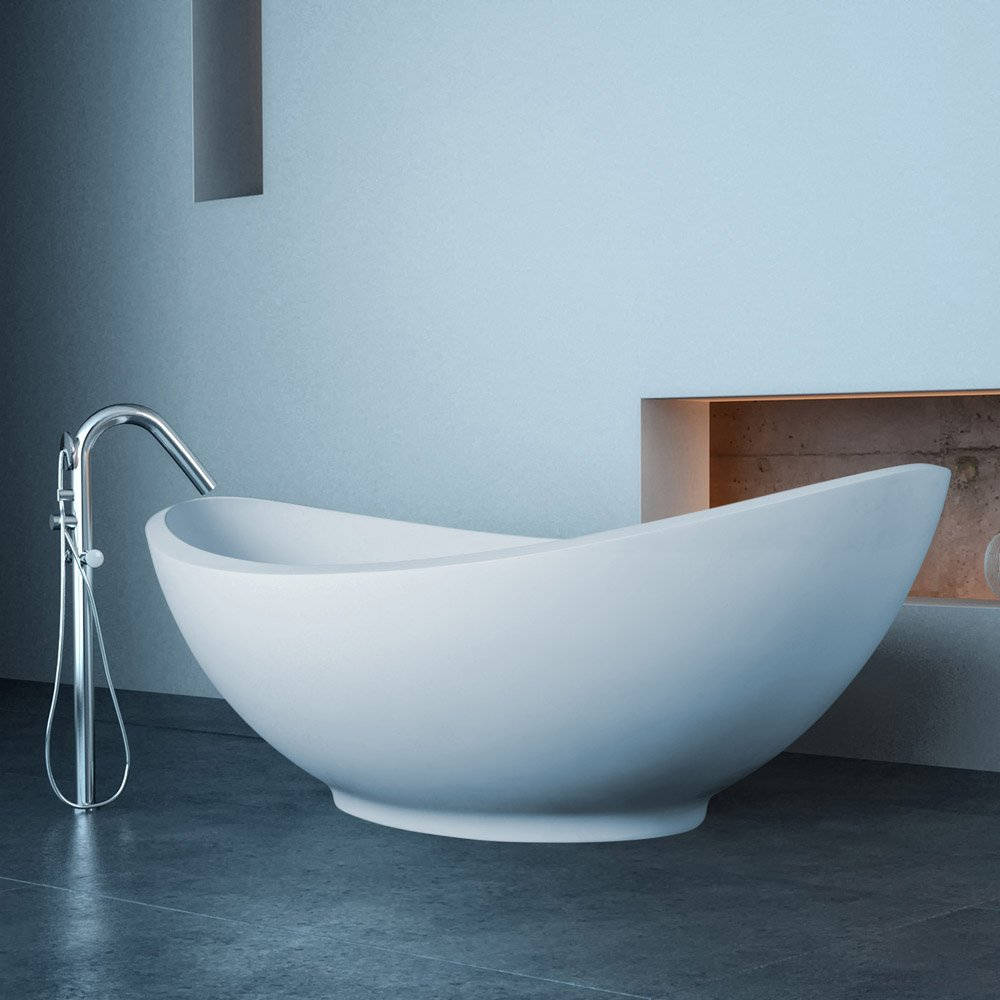 Modern Lavasca Mini Freestanding Soaker Bathtub | Zuri Furniture
