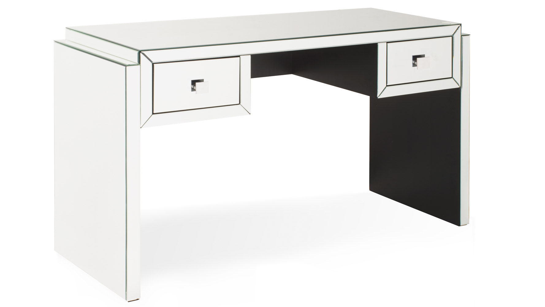 Modern mirrored glass 2 drawer deco console table zuri furniture geotapseo Image collections