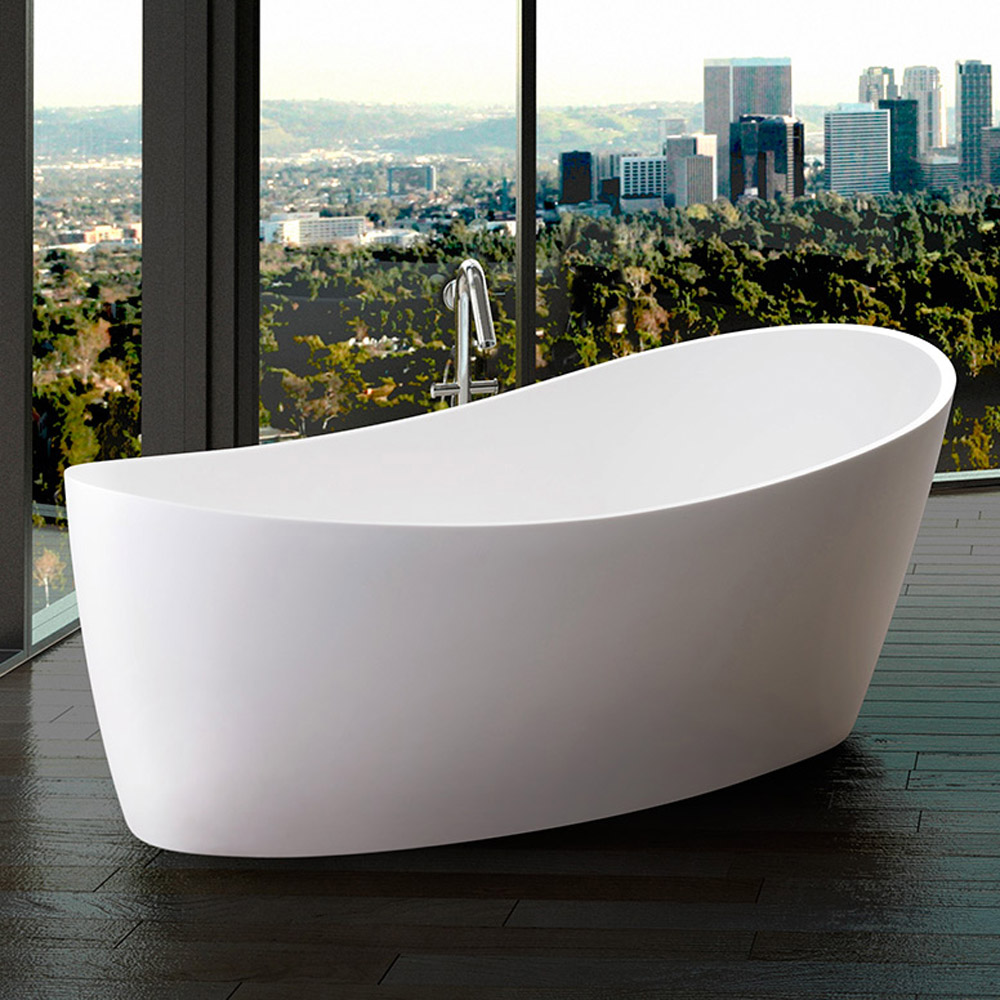 Modern dune freestanding bathtub zuri furniture for Cheap free standing tubs