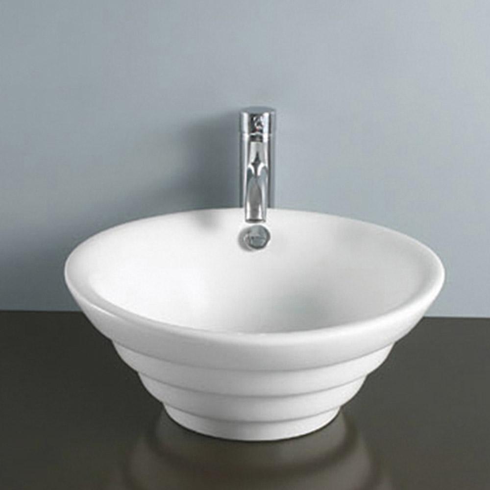 modern vitreous china white albern vessel bathroom sink