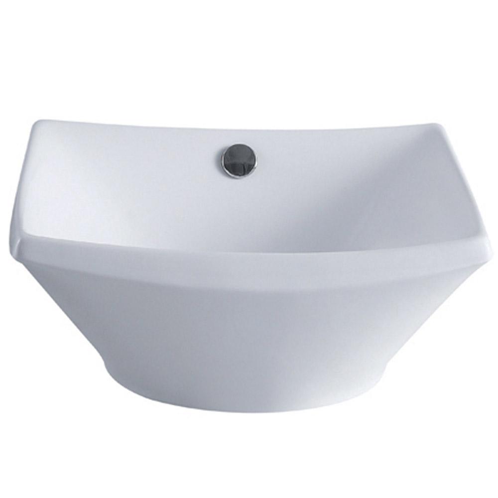 Modern Vitreous China White Coen Vessel Bathroom Sink