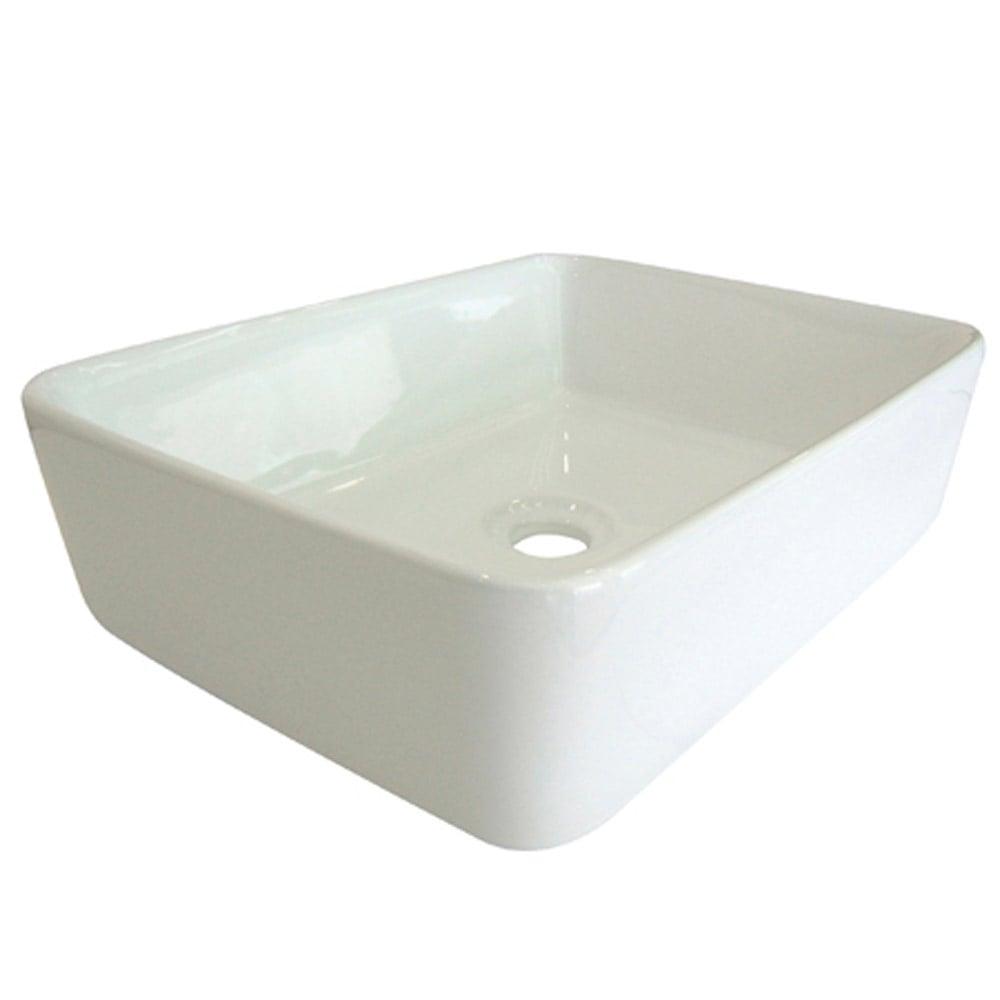 modern vitreous china white faris vessel bathroom sink