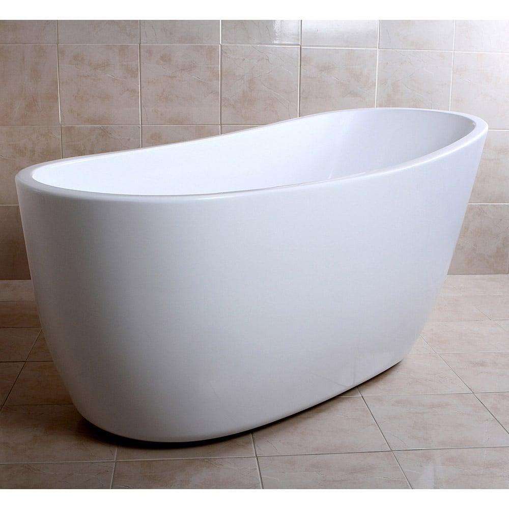 Freestanding slipper tub 28 images erion acrylic for Slipper tub bathroom design